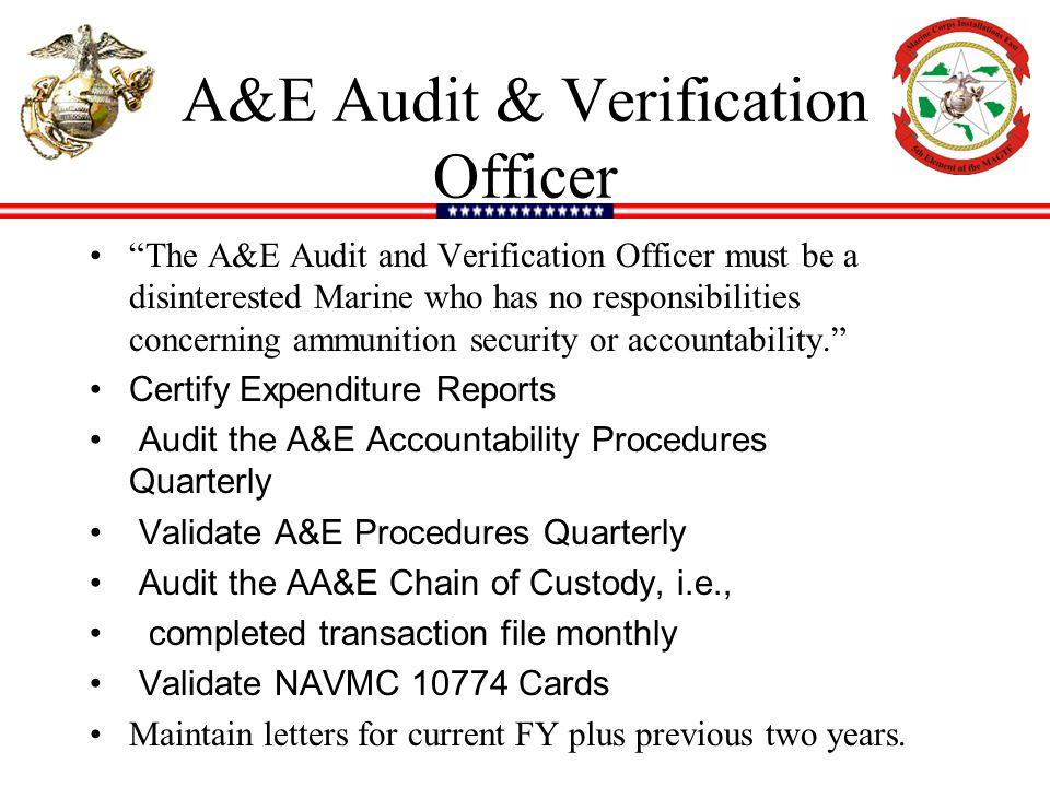 A&E Audit & Verification Officer