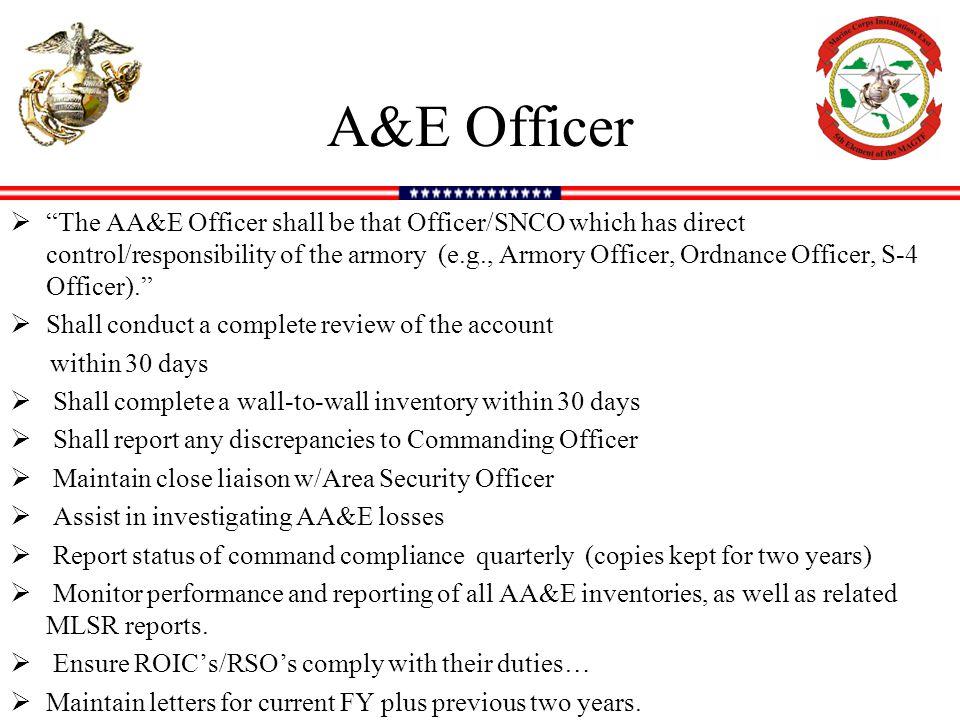 A&E Officer