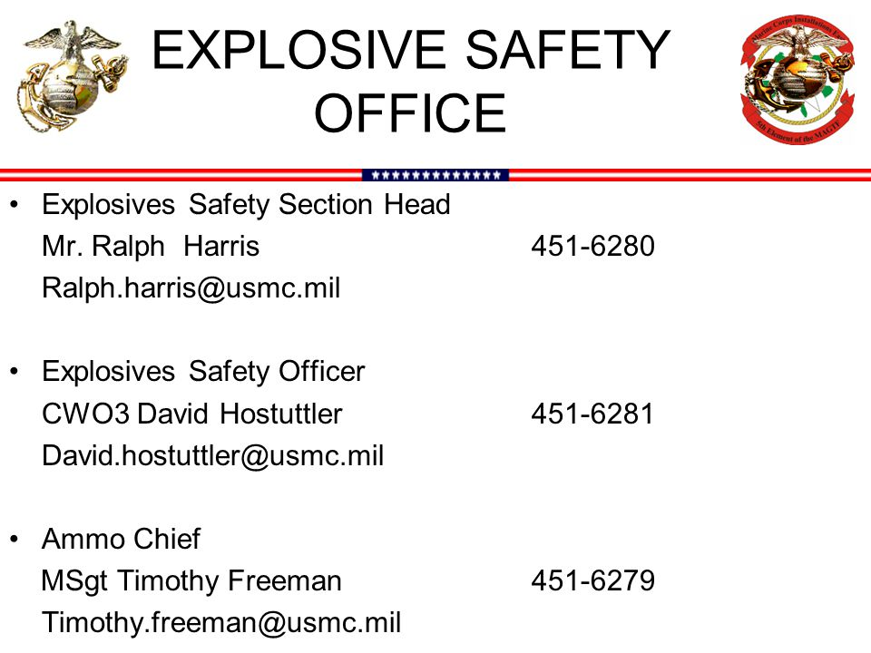EXPLOSIVE SAFETY OFFICE