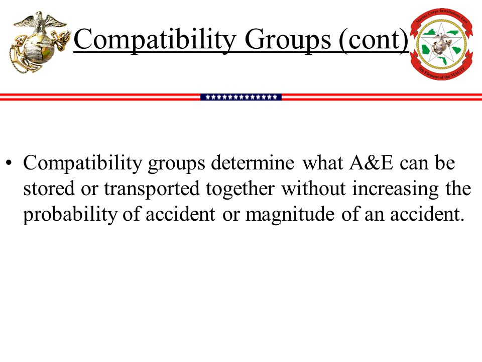 Compatibility Groups (cont)
