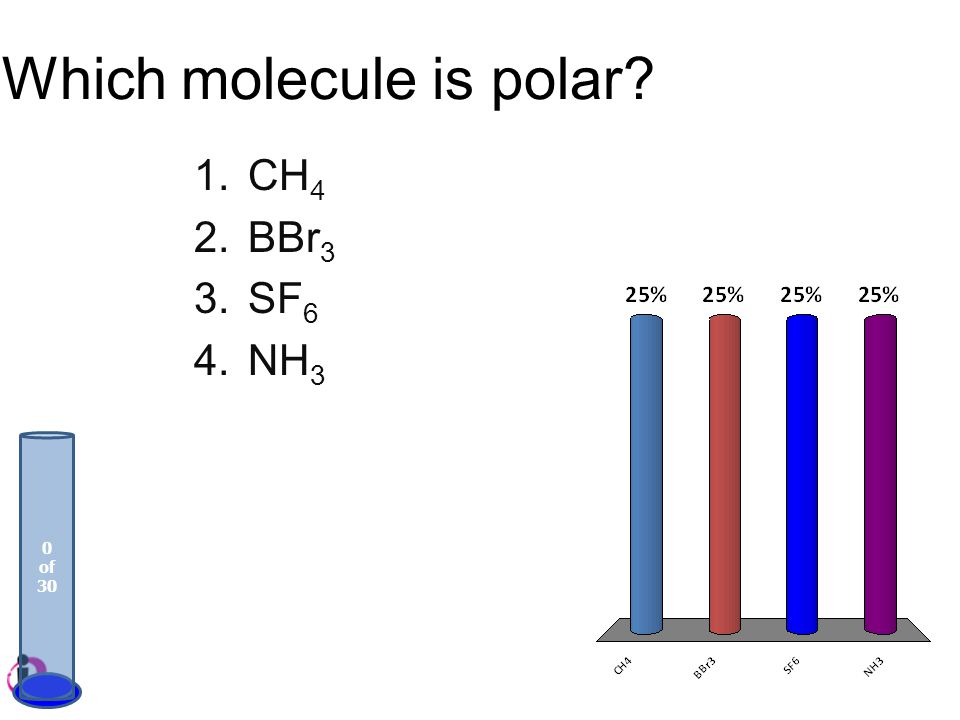 Which molecule is polar
