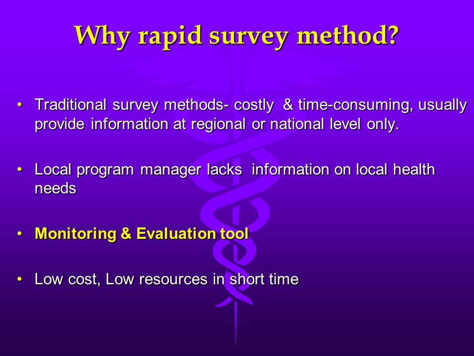 Why rapid survey method