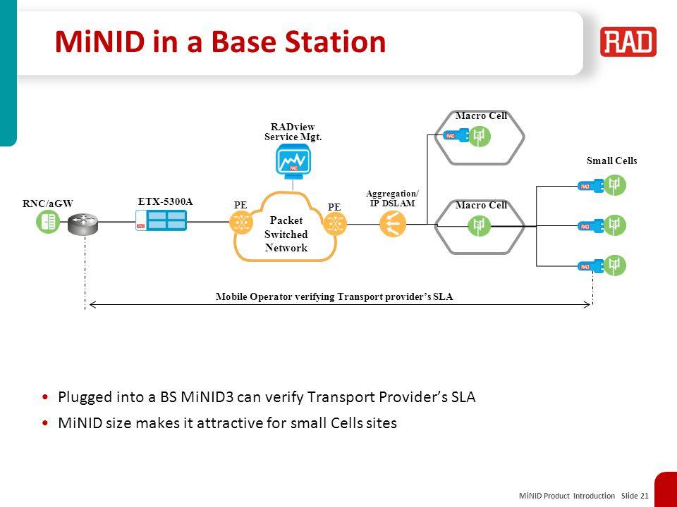 Mobile Operator verifying Transport provider's SLA
