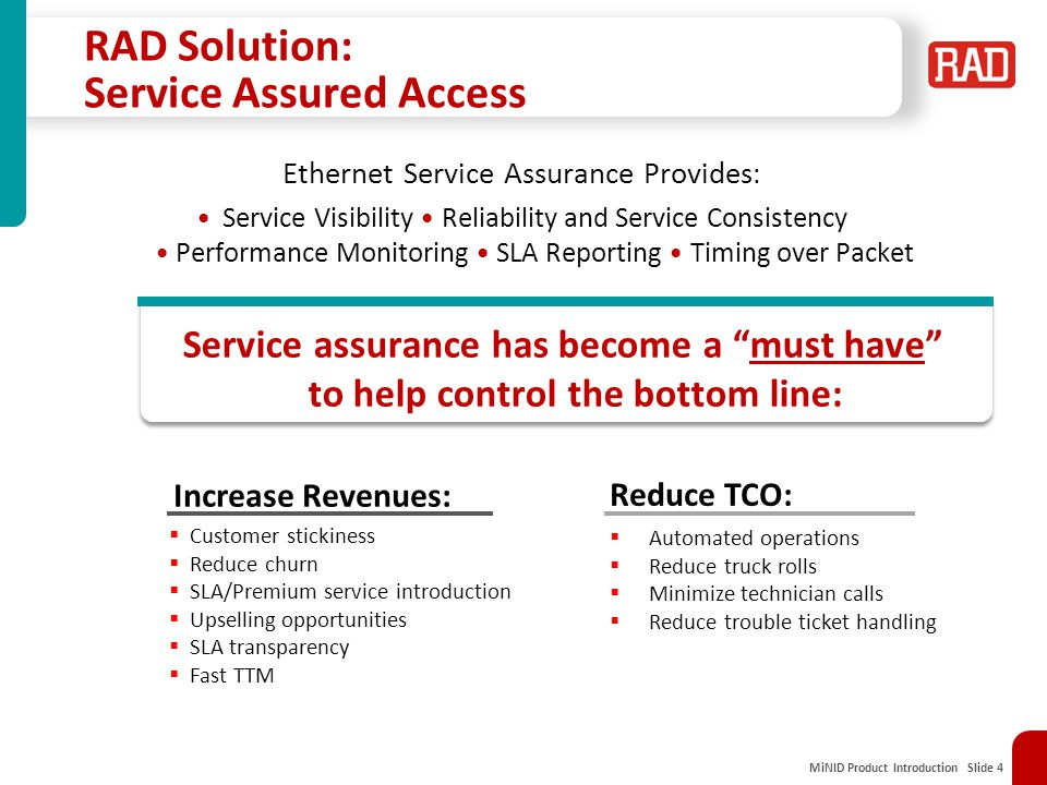 RAD Solution: Service Assured Access