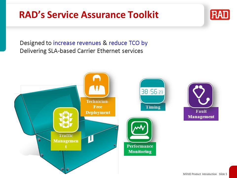 RAD's Service Assurance Toolkit