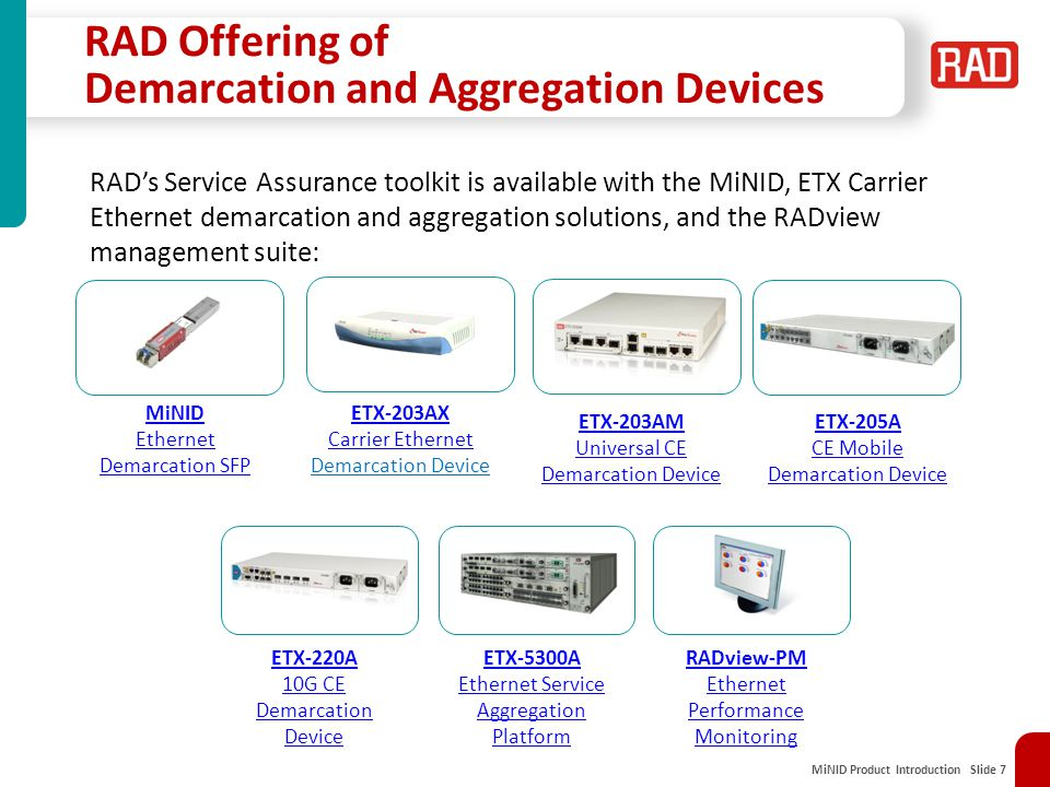 RAD Offering of Demarcation and Aggregation Devices