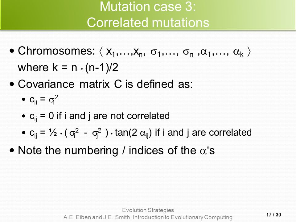 Mutation case 3: Correlated mutations