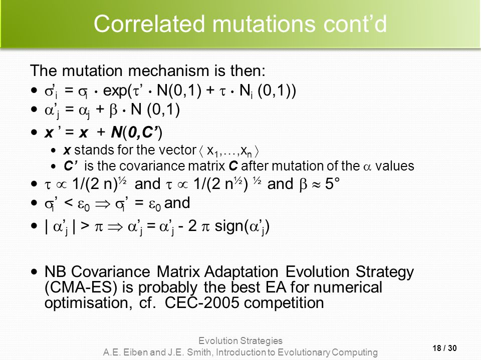 Correlated mutations cont'd