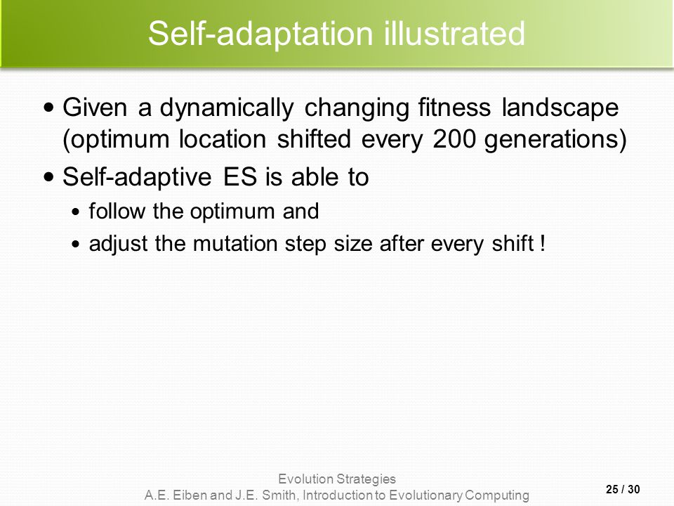 Self-adaptation illustrated
