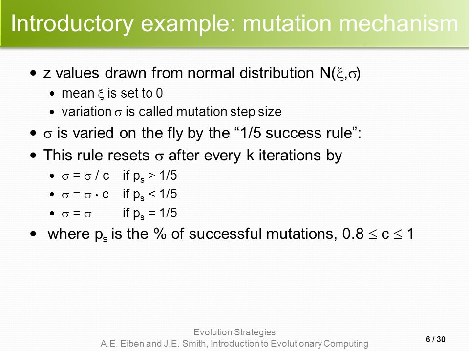 Introductory example: mutation mechanism