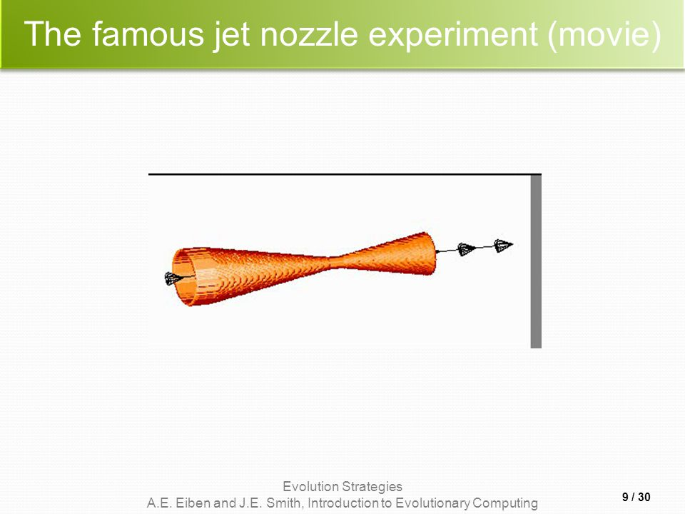 The famous jet nozzle experiment (movie)