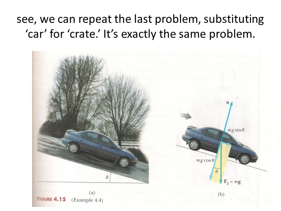 see, we can repeat the last problem, substituting 'car' for 'crate