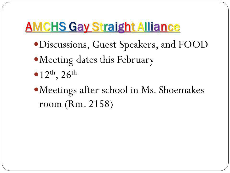AMCHS Gay Straight Alliance