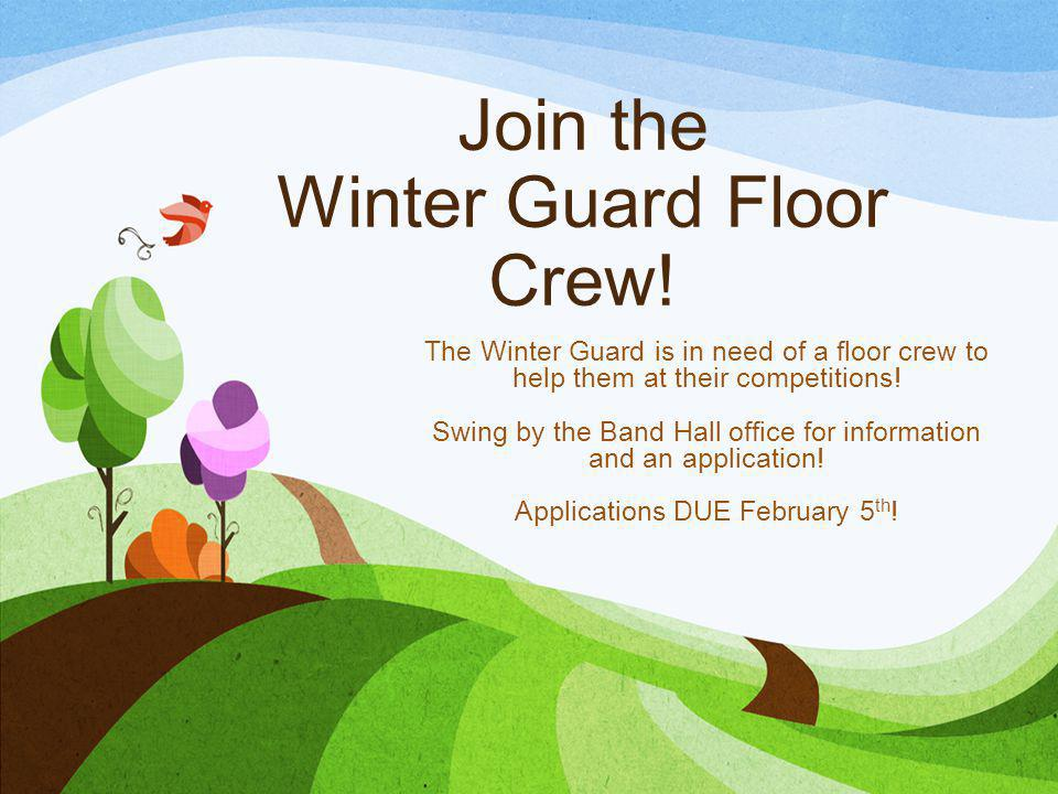 Join the Winter Guard Floor Crew!