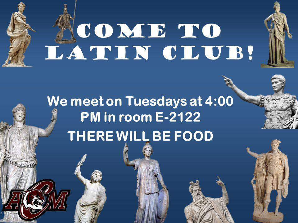 We meet on Tuesdays at 4:00 PM in room E-2122 THERE WILL BE FOOD