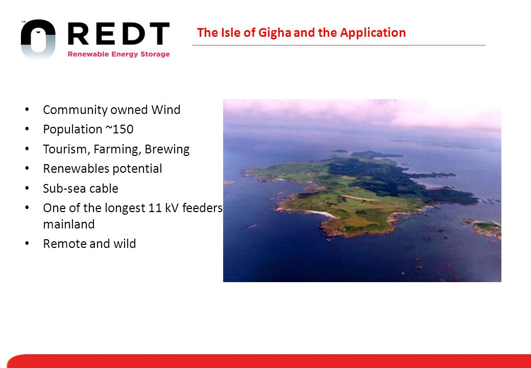 The Isle of Gigha and the Application