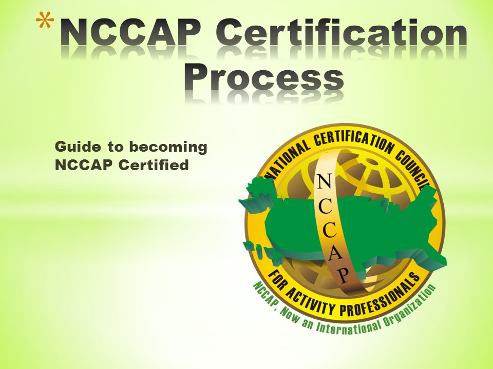 nccap certification process ppt video online download rh slideplayer com Nce Exam Study Guide Social Study Exam Grade 7 Example