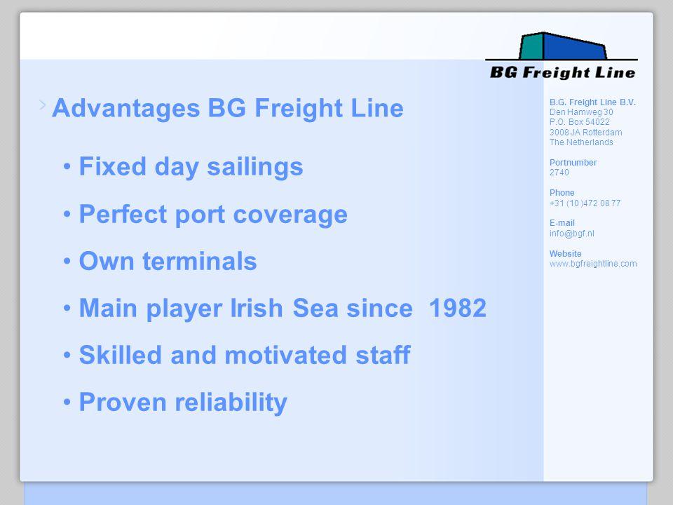 Advantages BG Freight Line