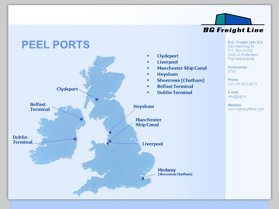 PEEL PORTS Clydeport Liverpool Manchester Ship Canal Heysham