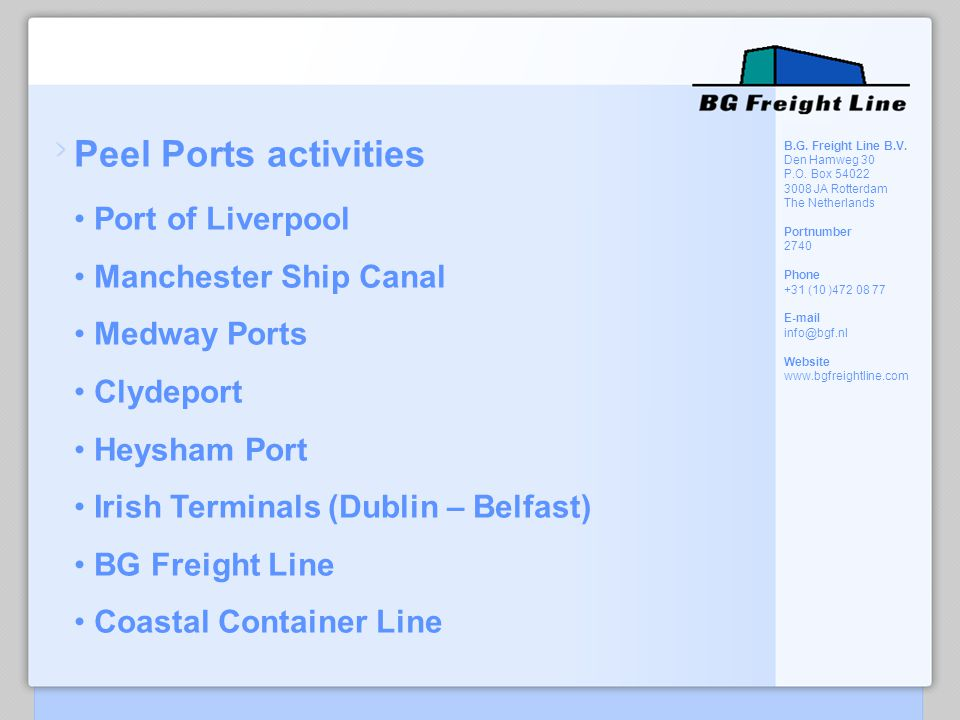 Peel Ports activities Port of Liverpool Manchester Ship Canal