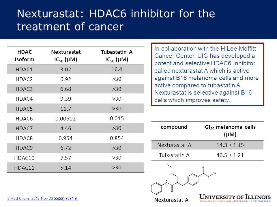 Nexturastat: HDAC6 inhibitor for the treatment of cancer