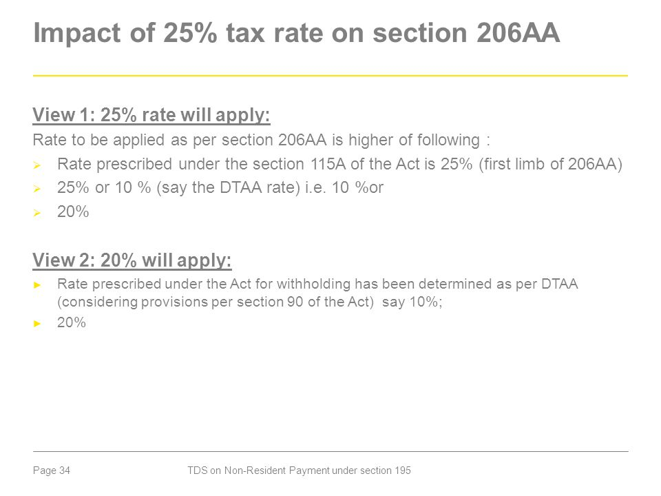 Impact of 25% tax rate on section 206AA