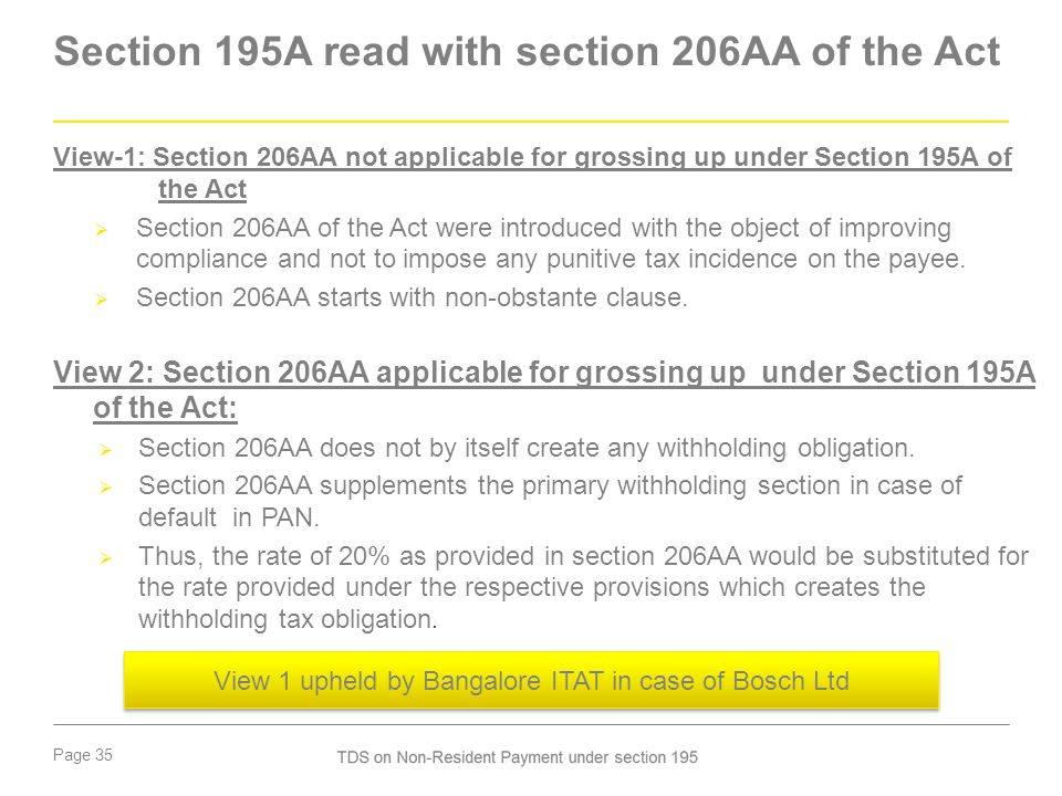 Section 195A read with section 206AA of the Act
