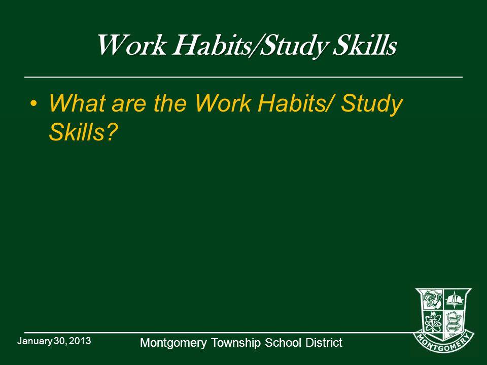Work Habits/Study Skills