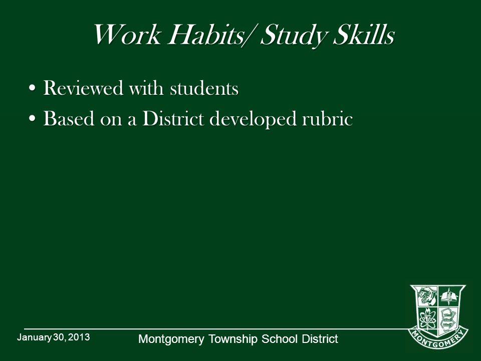 Work Habits/ Study Skills