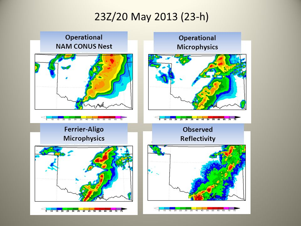 23Z/20 May 2013 (23-h) Operational Operational NAM CONUS Nest