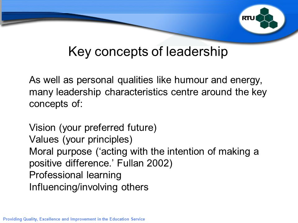 Key concepts of leadership