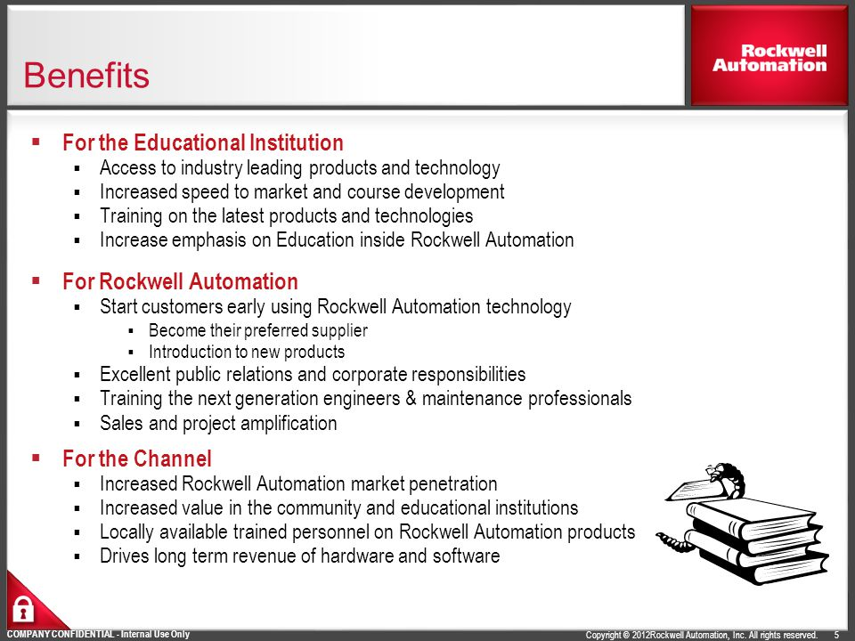 Benefits For the Educational Institution For Rockwell Automation