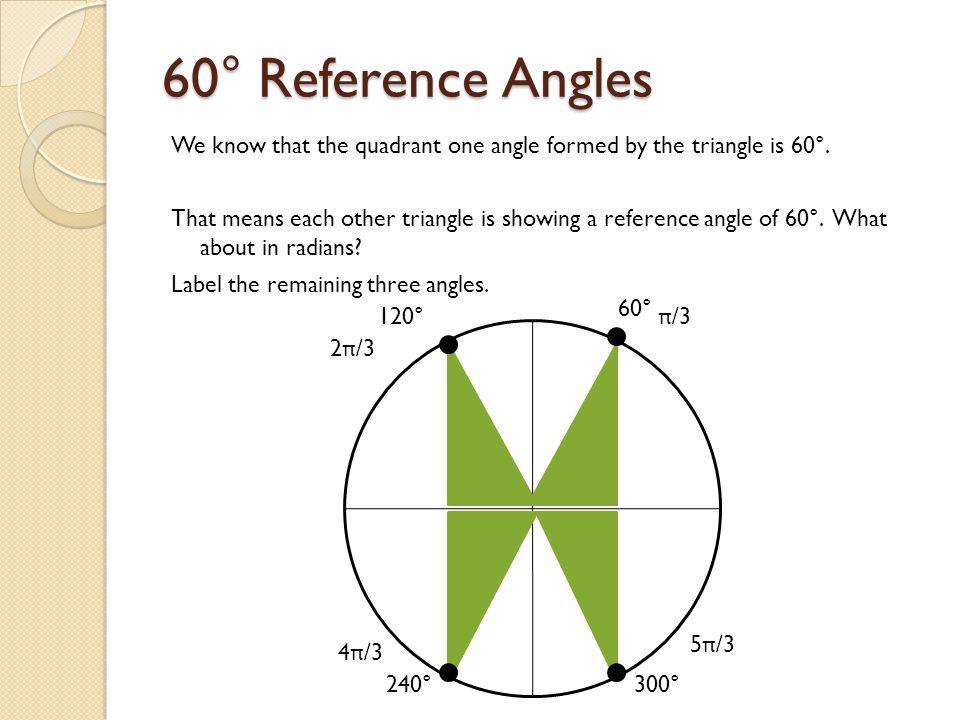 60° Reference Angles