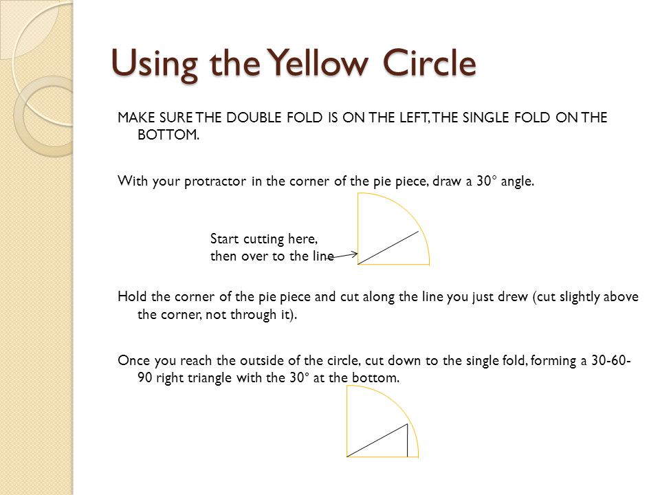 Using the Yellow Circle