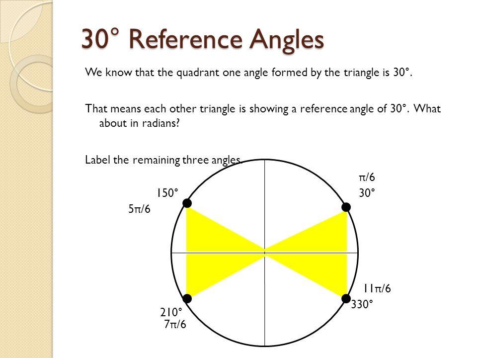 30° Reference Angles