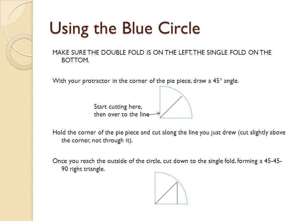 Using the Blue Circle