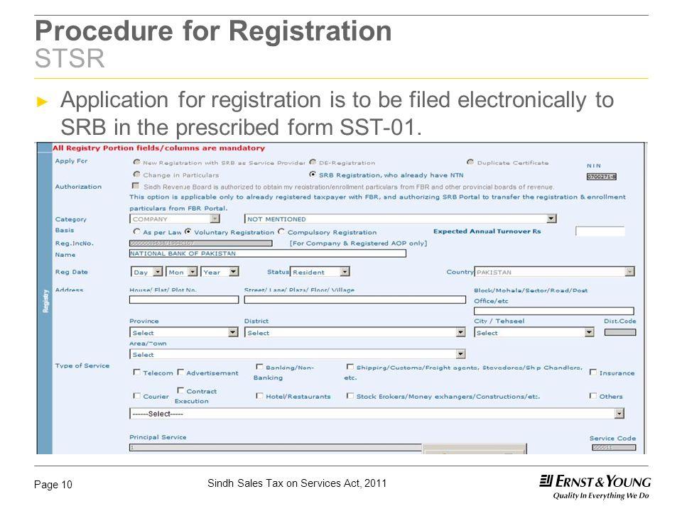 Procedure for Registration STSR