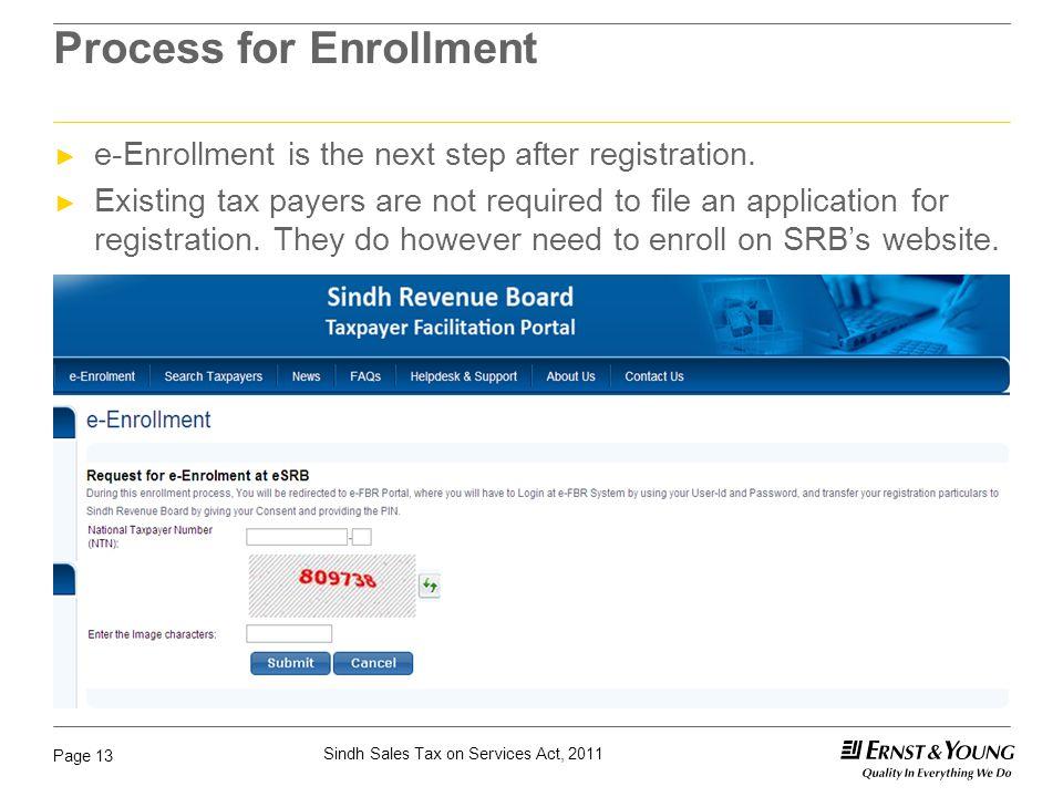 Process for Enrollment