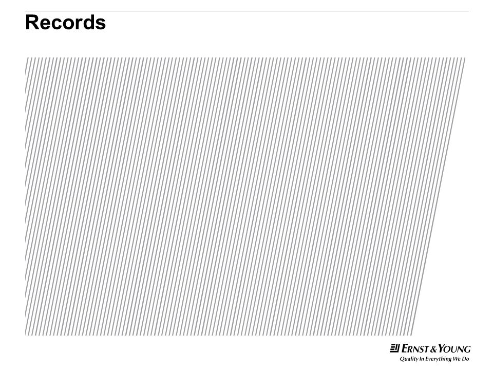 Records This is a predetermined divider slide and should not be modified.