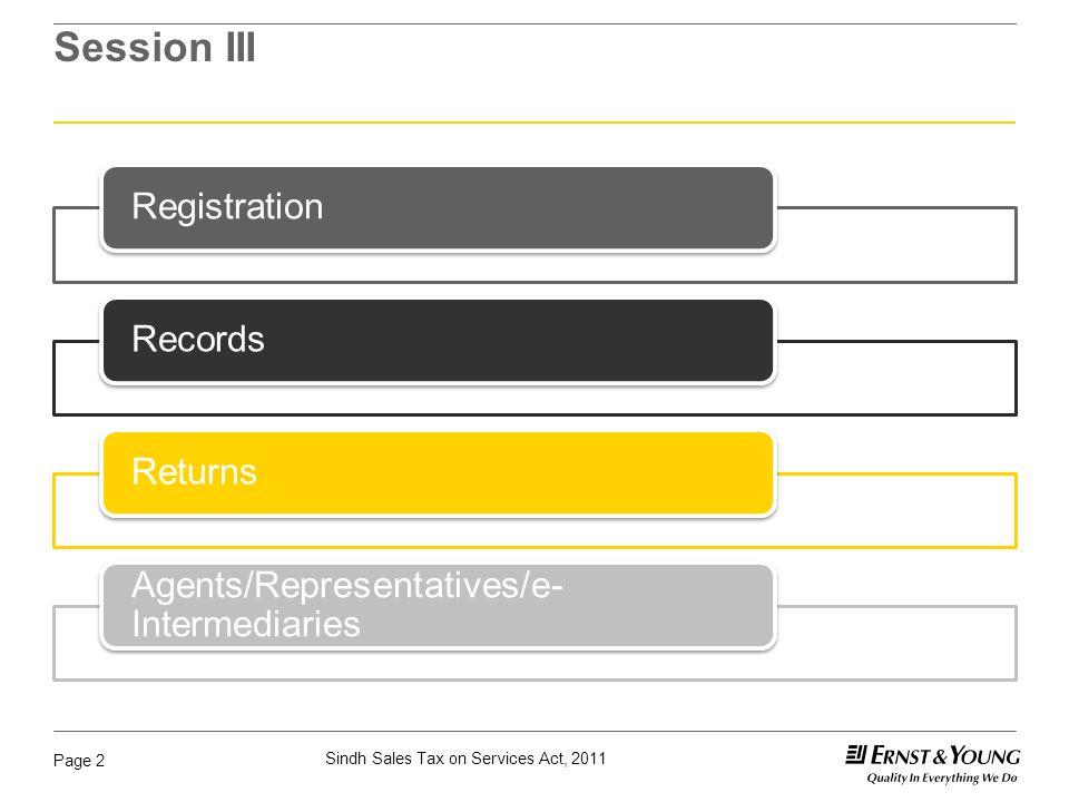 Session III Registration Records Returns