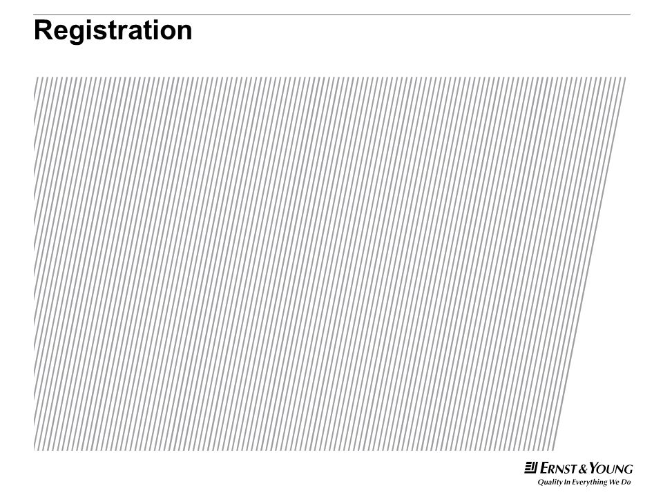 Registration This is a predetermined divider slide and should not be modified.