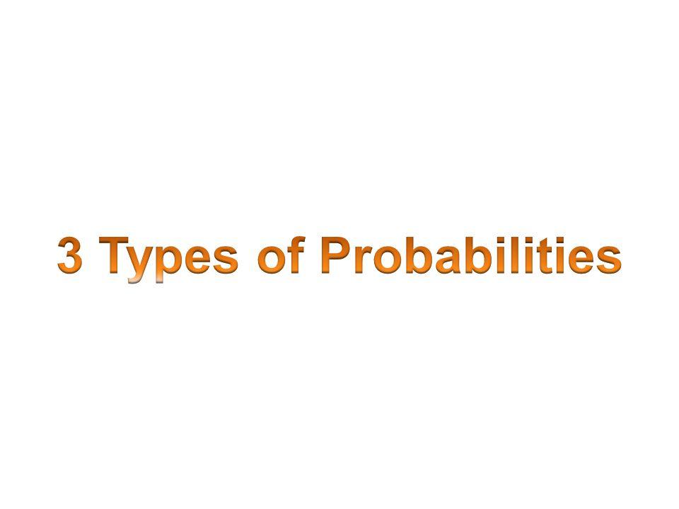 3 Types of Probabilities