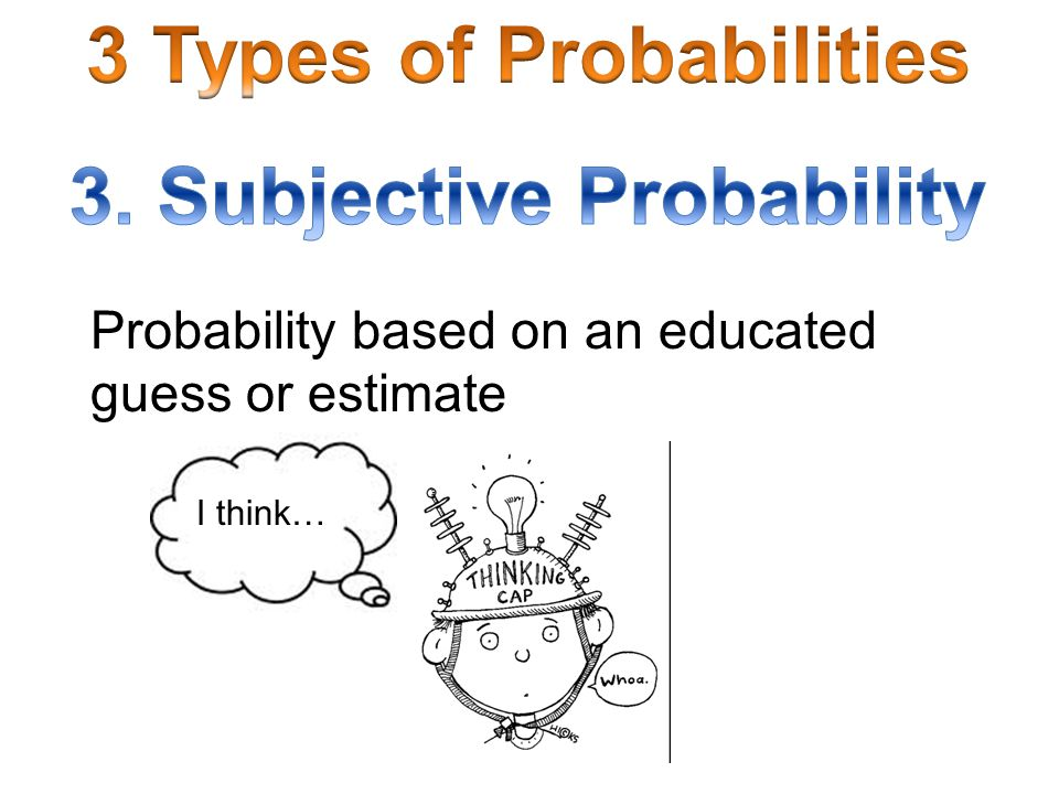 3 Types of Probabilities 3. Subjective Probability
