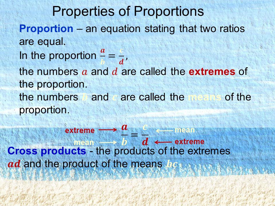 Properties of Proportions