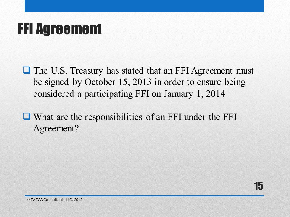 FFI Agreement
