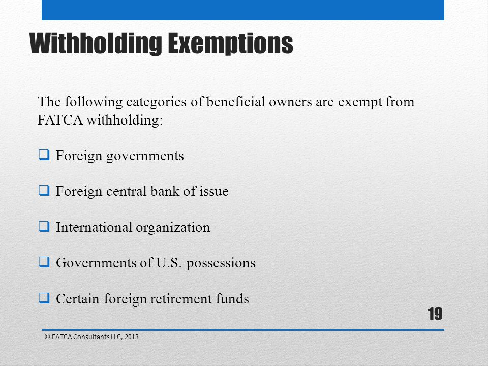 Withholding Exemptions