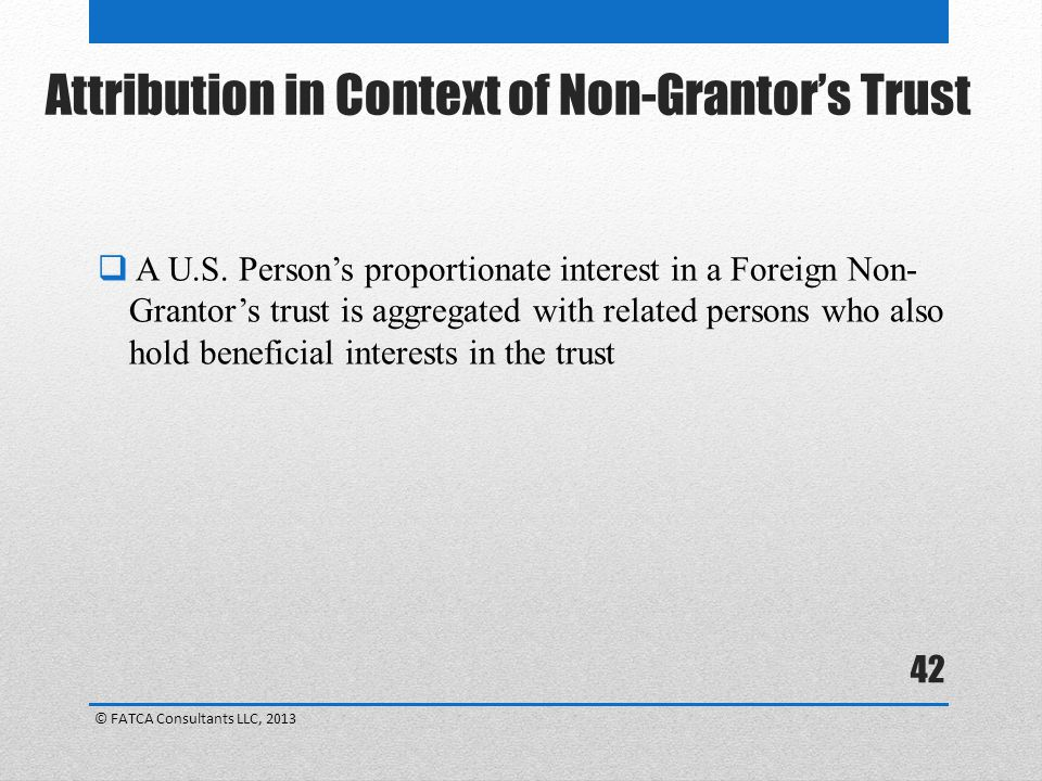 Attribution in Context of Non-Grantor's Trust