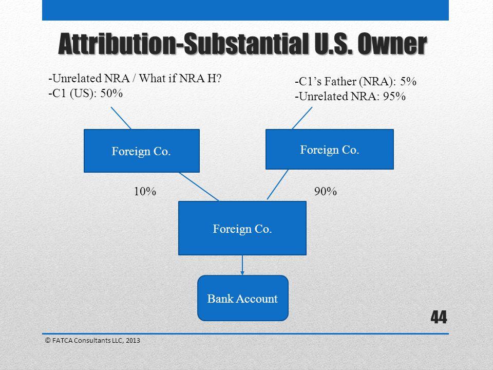 Attribution-Substantial U.S. Owner