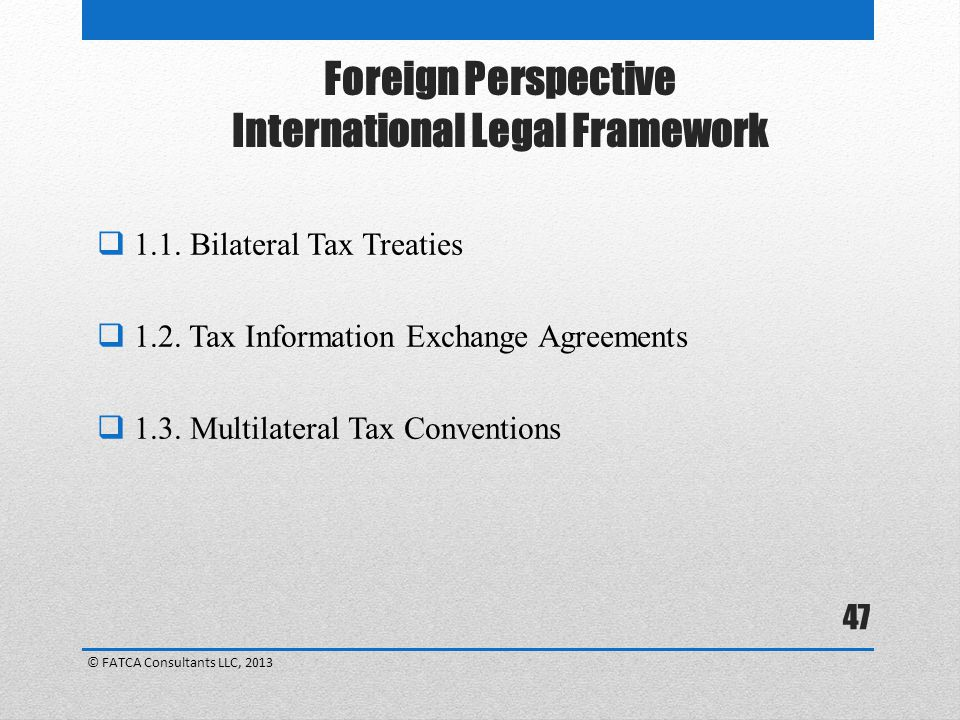 Foreign Perspective International Legal Framework