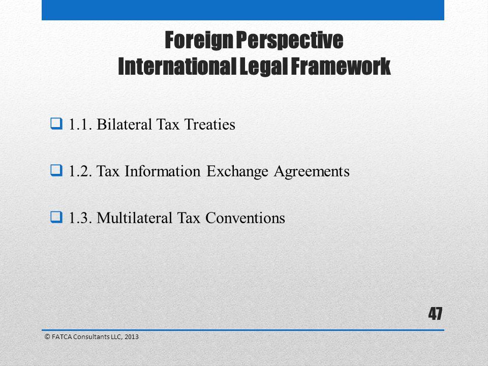 Foreign Perspective International Legal Framework